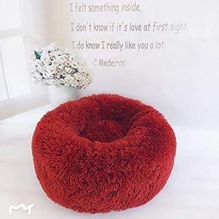 Long Plush Super Soft Pet Bed Kennel Dog Round Cat Winter Warm Sleeping Bag Puppy Cushion Mat Portable Cat Supplies Multic...