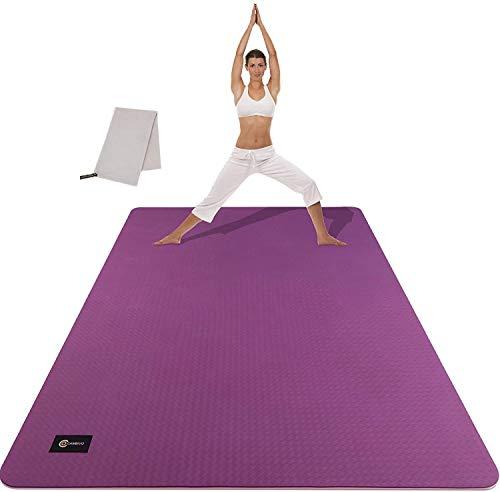 CAMBIVO Esterilla Deporte Grande, Colchoneta Gimnasia 183cmx122cmx6mm, Yoga Mat Hombre y Mujer, Alfombras Fitness Extra Ancho para Ejercicio en Casa, Gimnasio, Pilates, Gym