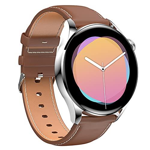 HQPCAHL Relojes Inteligentes Hombre Llamada Bluetooth con Pulsómetro,Podómetro,Monitor De Sueño Modos De Deportes Cronómetrol,Pulsera De Actividad,Smartwatch Inteligentes Hombre para Android,E