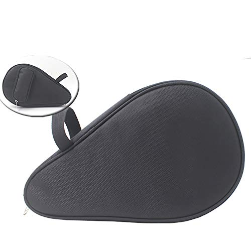 chengsan - Funda Impermeable para Raqueta de Tenis de Mesa, Pala de Ping Pong, Bolsa para Pala de Ping-Pong, Color Negro, tamaño 28x4x16cm(Length x Thickness x Bottom Width)