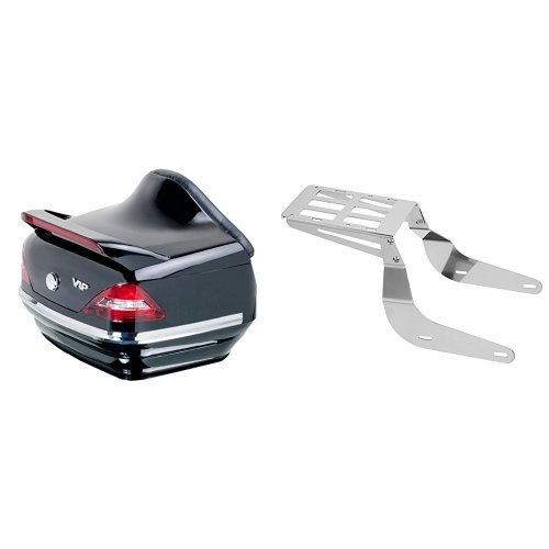 Customaccess MT0005N Top Case Rigide Modele Mercedes avec Porte Bagage No DemontableSB0002J pour Honda VTX 1300 (SC52) 03'-07'