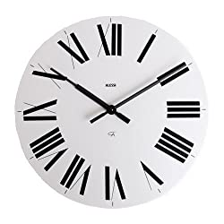 14.17 Firenze Wall Clock Color: White / Black by Alessi