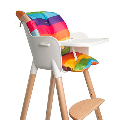 Asunflower Baby High Chair Seat Cushion, Waterproof Oxford Stroller Covers, Rainbow Pad