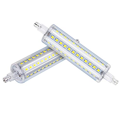 GW La Luz De Enchufe Horizontal LED R7S, Tubo De Doble Extremo, Puede Reemplazar Las Lámparas De Halogenuros Metálicos Comunes, La Iluminación Interior Y De Paisaje,Blanco,118mm