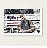 Die Rock Dwayne Johnson Workout Fitness Bodybuilding