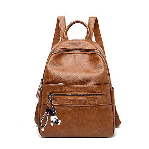 BUKESIYI Women's Backpack Handbags Rucksack Shoulder Bags PU Leather Mini Kawaii Anti-theft CCUK78239 Brown