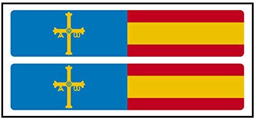 Artimagen Pegatina Rectángulos Largo Azul Cruz Amarilla + Bandera España 2 uds. 100x20 mm/ud.