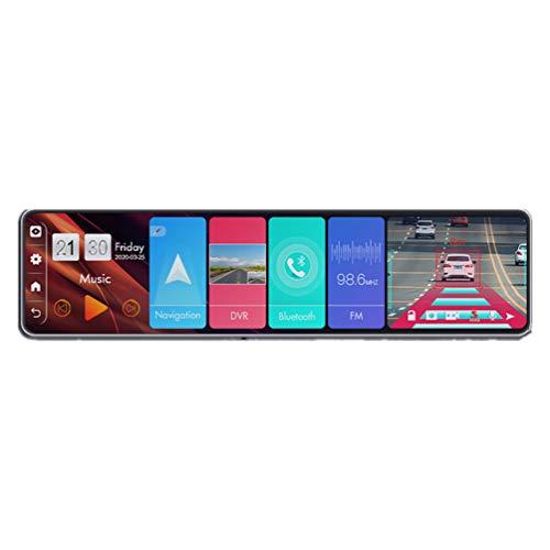 ZJFFMY Espejo Retrovisor De Coche De 12 `` Grabadora AutomáTica 4g Android 8.1 Espejo Retrovisor Dvr De Coche Super VisióN Nocturna Dash CAM Espejo Dvr 4gb + 32gb