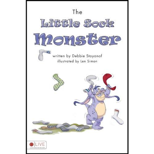 The Little Sock Monster  audiobook cover art