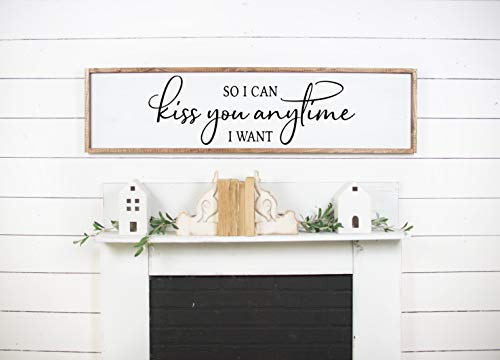 Ced454sy zodat ik je kan kussen wanneer ik wil houten huisdecoratie teken slaapkamer Decor Fixer Upper Style teken boerderij stijl