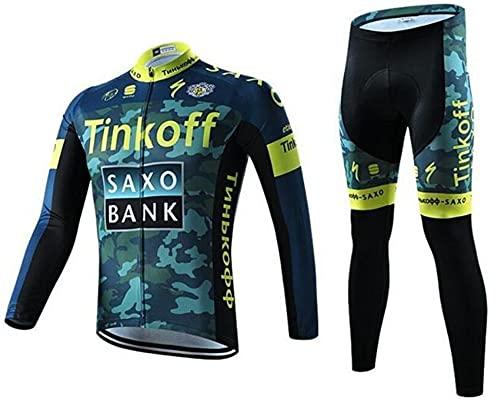 KTCLC Primavera/Autunno Costumi da Ciclismo per Uomini, Completo Ciclismo Uomo Maglia Ciclismo Maniche Corte Squadra Professionale