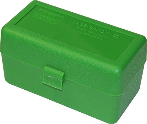 MTM 50 Round Rifle Ammunition Box RM-50 Green