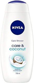 NIVEA Care & Coconut Gel de Ducha - formato familiar - Geles de ducha (Adultos, Niño, Cuerpo, Piel normal, Coco, 750 ml)
