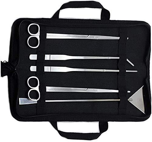 Aquascaping Tools 5 in 1 Kit Aquarium Scissors Plant Tools Curved &...