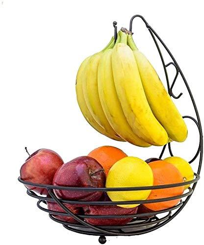GDFEH Cestas de Pan Cromo Swinging Fruit Hamaca Vegetal Back Basket Rack...