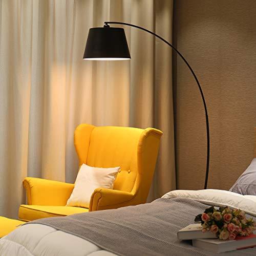 DSM Stehleuchte Wohnzimmer Angeln Einfache Moderne Studie Persönlichkeit Kreative Sofa Schlafzimmer Dekoration Stehleuchte 180 cm (Color : Black, Size : Remote Control)