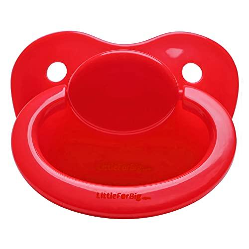 LittleForBig 大人用おしゃぶり つや消しニップル ABDL ママの乳首を再現 赤