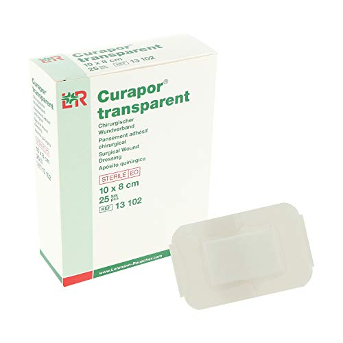 CURAPOR Wundverband transparent 10x8cm steril, 25 St