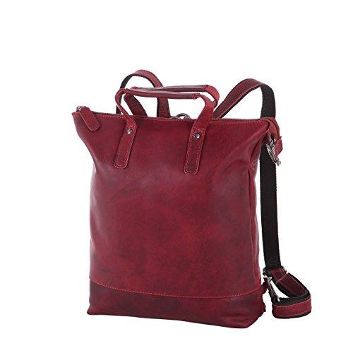Rada Nature Damenrucksack mit Handtaschenfunktion 'Utrera' echt Leder Handtaschenrucksack (rot)