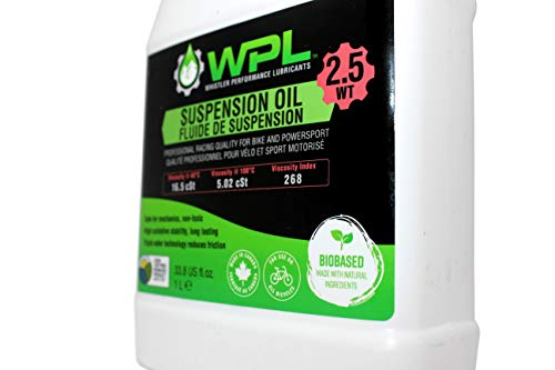 WPL High Performance Bicycle Suspension Oil 1L (20wt) - Premium Design for Forks and Shocks - Mountain Bike Suspension Fluid for Mountain Bike Athletes