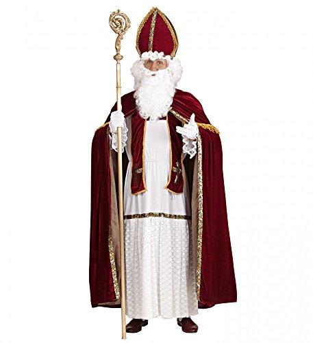 shoperama Saint Nicholas Papá Noel Disfraz para Hombre Talla L/XL Santa Claus Papá Noel ERZ Obispo