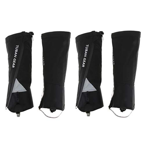 T TOOYFUL 2 Pairs Waterproof Shoes Covers Reflective Snow Rain Boots Gaiters Leggings Replacement Foldable Reusable for Women Men Black M