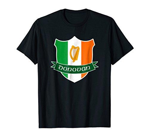 Donovan Irish Name Shirt Fathers Day Ireland Flag Crest