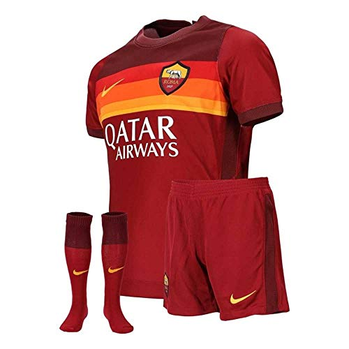 Nike Kinder Football Set Roma LK Nk BRT Kit HM, Team Crimson/Dark Team Red/(University Gold) (Full Sponsor), XL, CD4597
