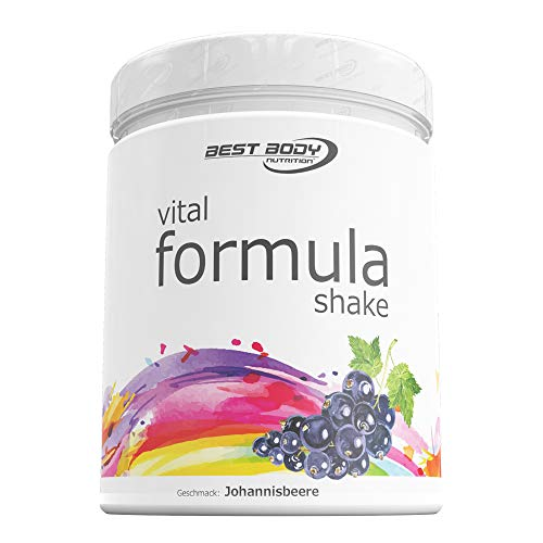 Best Body Nutrition - Vital FormulaShake - optimaler Shake Johannisbeere, 1er Pack (1 x 500 g)