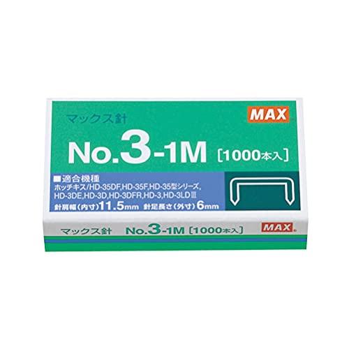 マックス ホッチキス針 No.3-1M 中型3号