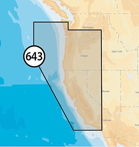Navionics Platinum Plus 643P+ California und Oregon Marine Charts auf SD/MSD
