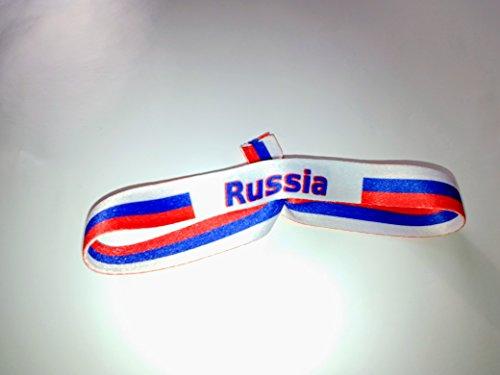 20 Stück Russland (Russia) Armbänder, Fußball, Partys, Events oder Hochzeit !!!