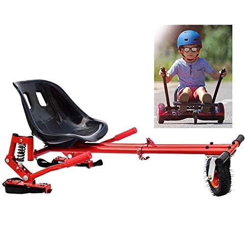 Go Kart Kit de conversión para hoverboard para auto equalojing scooter compatible con clásico de 6.5 'a 10' y fuera de la carretera 8.5 'Longitud ajustable de hoverboard Hoverboard Haga de conducir mu