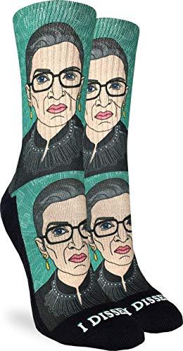 Good Luck Sock Women's Ruth Bader Ginsburg Socks, Adult