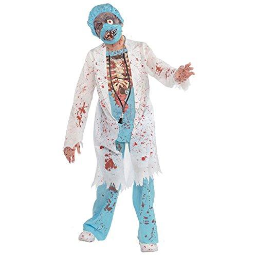amscan 999647 Disfraz de doctor zombi para adolescente, edad de 12 a 14 aos, 1 unidad