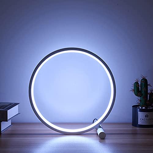 Tischlampe LED Nachttischlampe Schreibtischlampe Dimmbar Tischleuchte Energieeffizient Augenschutz Leselampe für 3 Helligkeitsstufe für Schlafzimmer Wohnzimmer