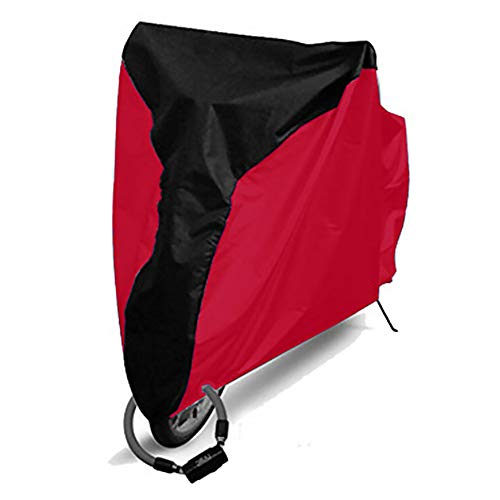ZAK168 Fahrradabdeckung, wasserdicht, staubdicht, UV-Schutz, mit Löchern, für Mountainbikes und Rennräder, Aufbewahrungshülle, Middle Black+red, S