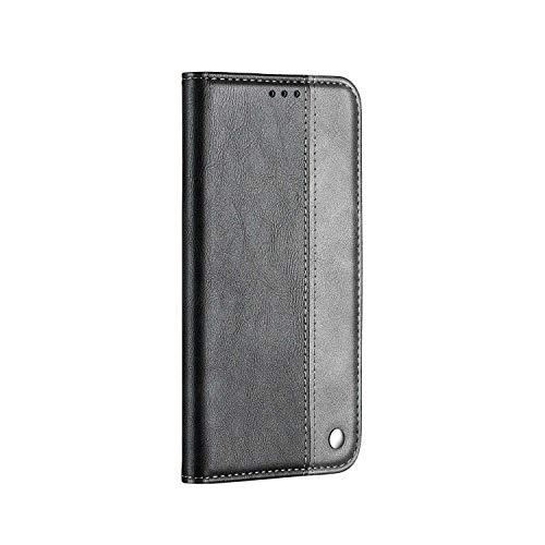 Handyhülle für iPhone 11 Hülle, SONWO Leder PU Flip Case Magnet Klapphülle Silikon Bumper Schutzhülle für iPhone 11, Grau