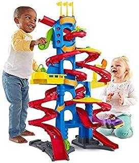 Little People garaż Cocheland, zabawki parkingowe samochody niemowlęta 1 rok (Mattel FXK61) różne kolory/model