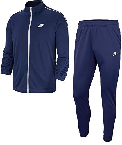 Nike Herren M NSW CE TRK Suit PK Basic Tracksuit, Midnight Navy/White/(White), 2XL