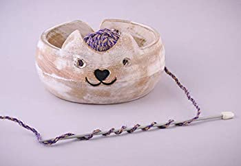 Gifts for Women Wooden Yarn Bowl Holder Bowls for Knitting Crochet Yarn Winder Knitting Accessories and Supplies Large Size 7  X 3   Design 7