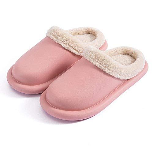 SLM-max Zapatillas Unisex,de Interior Impermeables para Mujer, Hombre, Invierno, Zapatos de Suelo para el hogar, cálida Felpa, Plantilla extraíble, de Trabajo de Cocina para Amantes
