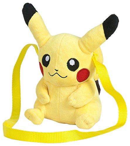 Famosa Softies - Pokèmon Bolso, peluche Pikachu, 15 cm, color amarillo (Famosa 760015203)
