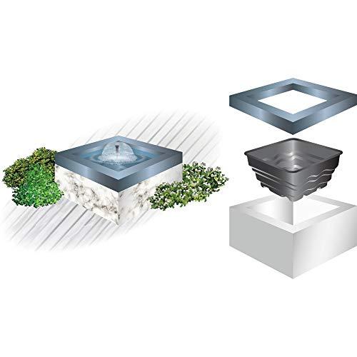 Heissner B080-00 PE-Terrassen-Becken quadratisch 70 Liter, perfekt für Terrassen und Balkone