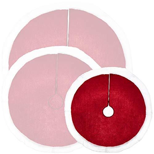 com-four® Weihnachtsbaumdecke zum Schutz vor Tannennadeln - runde Christbaumdecke für den Weihnachtsbaum - Unterlage ohne Weihnachtsmotiv
