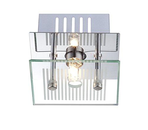 Deckenleuchten Wandleuchte Glas gestreift Deckenlampe Wandlampe Chrom Globo 49201 1