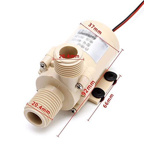 IENPAJNEPQN DC 12V Solar-Submersible warm/Kühlwasserpumpe Circulation 212 Grad F Brushless Motor Hochdruckpumpen (Size : 12V)