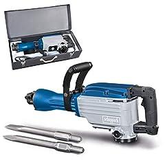 scheppach rivning hammare AB1600 (1600 watt, 50 joule, inkl. sexkantiga hållare 30mm spetsig och platt mejsel och metall fall)