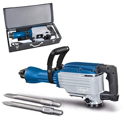 SCHEPPACH DAB1600 Martillo Demoledor Eléctrico para Mampostería y Hormigón con Fuerza de Impacto de 50J, 1600W, Azul