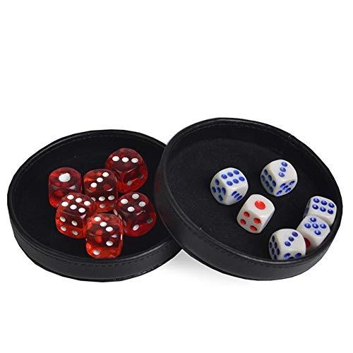 TX GIRL Kunststoff-Würfelbecher Craps Sets Gambling Tray/Abdeckung Casino Zubehör Texas Hold'em Poker Black Jack 21 Punkt (Color : 2 pcs)